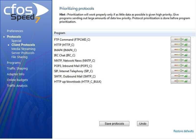 ما هي مميزات تحميل برنامج تسريع الانترنت cFosSpeed؟