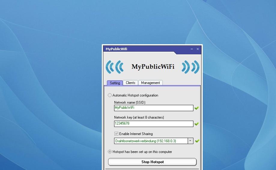 ما يميز برنامج My Public WiFi لتحويل اللاب الى راوتر للكمبيوتر