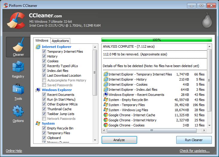 مميزات برنامج سي كلينر للكمبيوتر